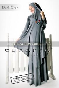 hijaber abu gelap