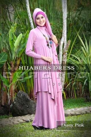 hijaber dusty pink2