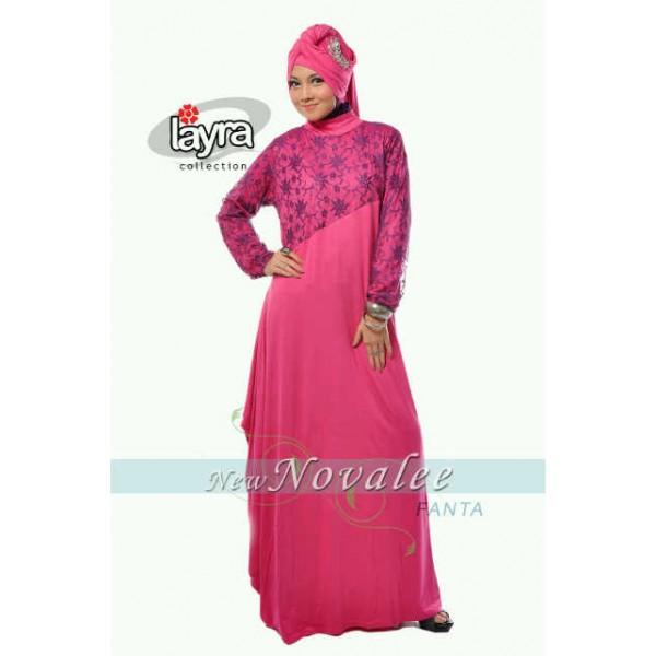 Layra New Novallee Fanta Baju Muslim Gamis Modern