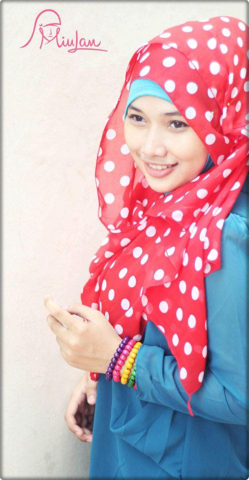 Jilbab Polka Scraft | Baju Muslim GAMIS Modern