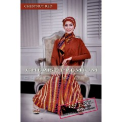 baju muslimah pesta Cherise Premium Chestnut Red by Cynara Looknice