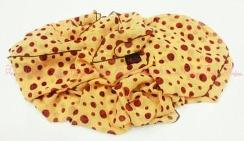 polka scarf gold