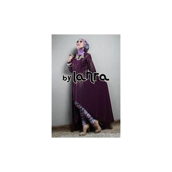 Lanra ungu baju muslim gamis modern Baju gamis model najwa