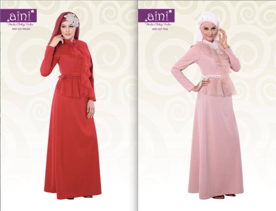 Aini 027 Baju Muslim Gamis Modern