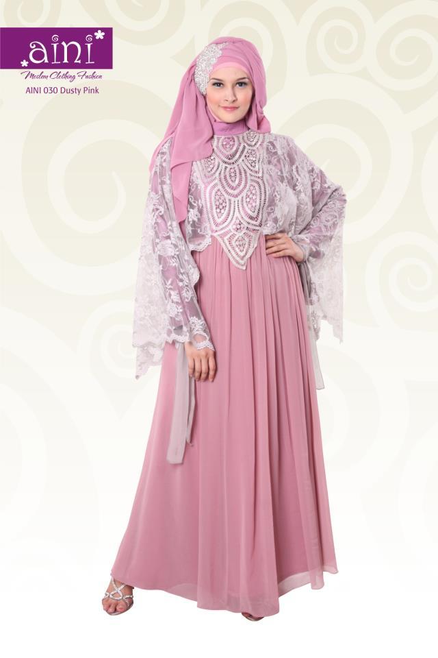 Aini 030 Baju Muslim Gamis Modern