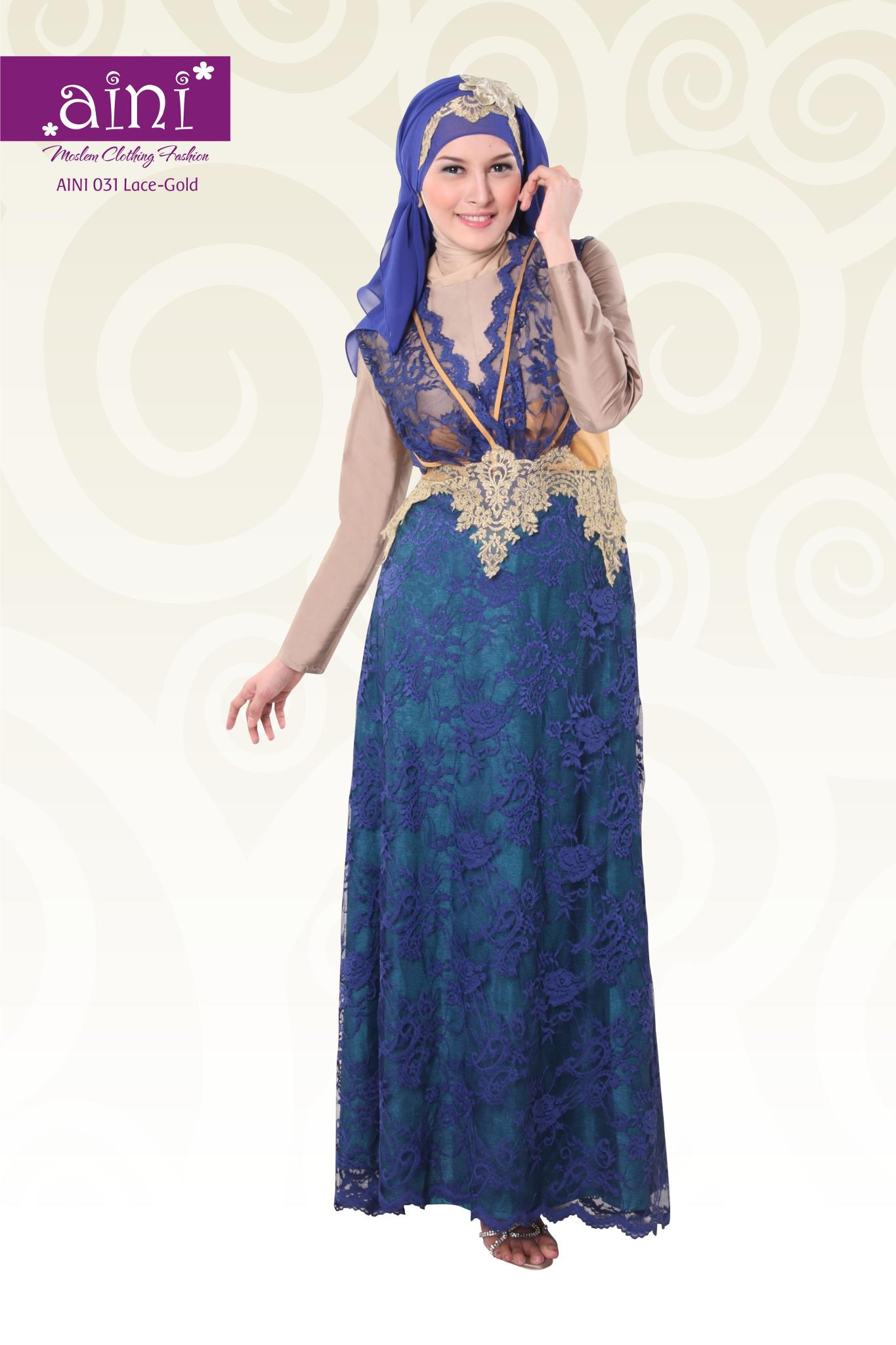 Aini 031 Baju Muslim Gamis Modern