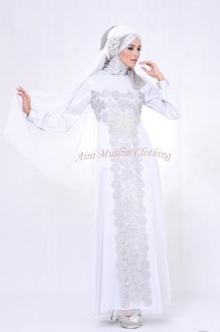 baju muslim elegan online  036 silver