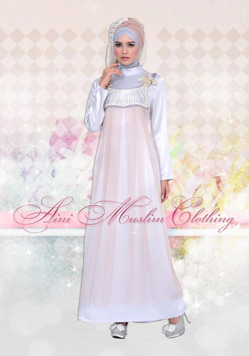 Aini 034 Khaki Baju Muslim Gamis Modern