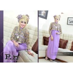 0616 violet, busana muslimah terkini, gamis muslimah indonesia