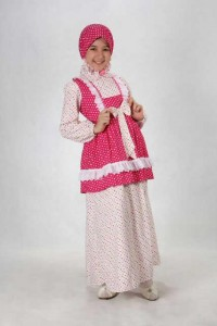 302 pink, busana muslim anak, busana muslimah aini anak