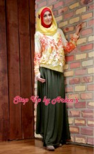 step up arlene, busana muslim step up, gamis gaul, gamis remaja