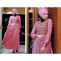 Evelynne pink baju muslimah terkini nayla Evelynne pink
