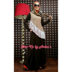 Gamis Hijabers  STEP UP LATANZA COKLAT