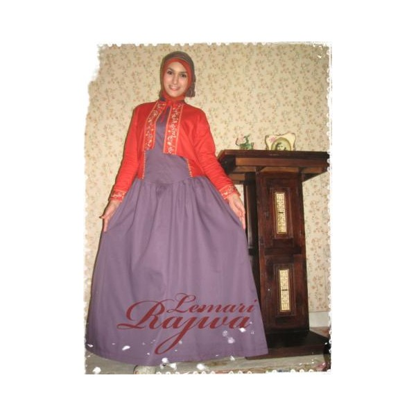 Queen sahara plum-orange, pakaian muslimah terkini 2013, baju muslimah terbaru