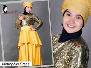 Salmadina metropolis kuning suplier baju muslim, pakaian muslimah terkini