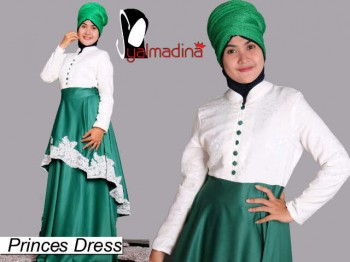 Syalmadina Princes hijau agen baju muslimah, suplier busana muslim