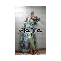 asadel hijau lanra collection, gamis pesta muslimah agen baju muslim