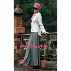 butterfly abu step up arlene, baju muslimah celana, gamis katun