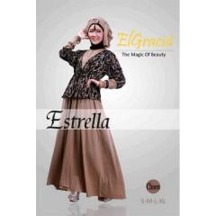 estrella coklat baju muslimah elgracia, estrela coklat baju muslimah