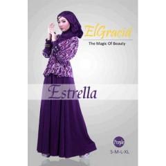 estrella ungu by elgracia, agen muslimah gaun, gaun pesta muslimah