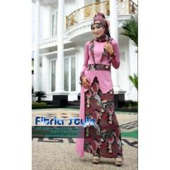etnika pink fitria style, baju muslimah pesta, busana muslimah terkini