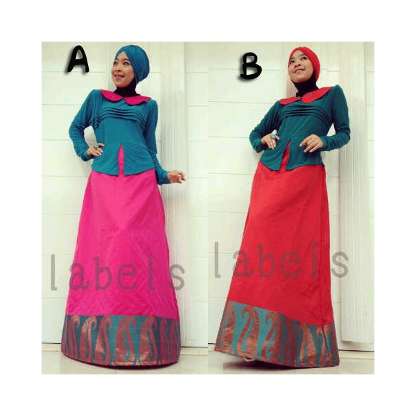 Queena Adelle A B Baju Muslim Gamis Modern
