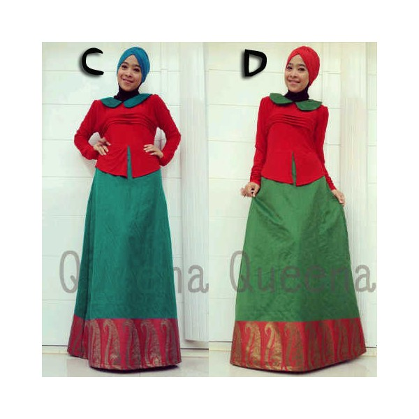 Queena Adelle C D Baju Muslim Gamis Modern