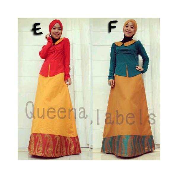 Queena Adelle E F Baju Muslim Gamis Modern