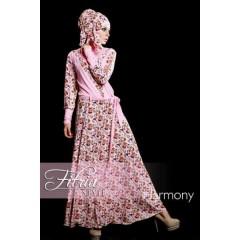 harmony pink fitria style, busana muslimah terbaru, gamis pesta