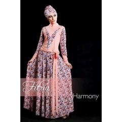 harmony salem fitria style, gamis muslimah pesta, baju muslimah terbaru