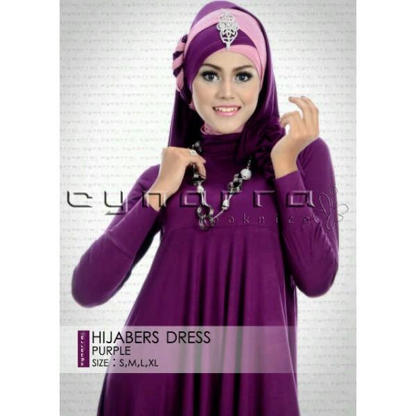 hijaber ungu2 cynarra looknice, busana muslimah terbaru