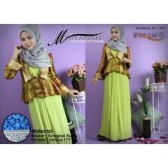 meryanah hijau pupus balimo collection, balimo hijab style