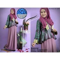 meryanah ungu balimo collection, gamis busana muslimah terbaru