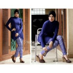 nayla danisha biru, baju mulimah cantik terbaru
