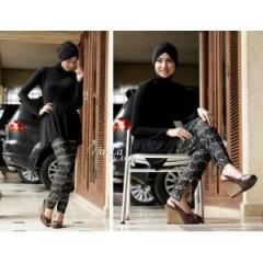 nayla danisha hitam, koleksi busana gamis terbaru
