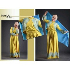 nayla new green, nayla collection, busana muslim resmi, busana muslim murah