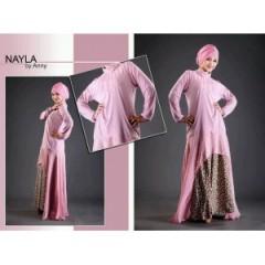 nayla princess pink, busana muslimah pink
