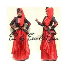 renesme merah muslimah terbaru, baju muslimah terkini, butik online