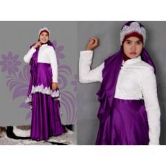 syalmadina princes purple, busana muslimah cantik terkini