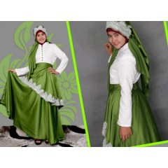 syalmdna princes hijau, busana muslimah terkini