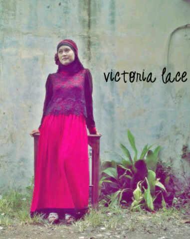 Victoria L Merah H Baju Muslim Gamis Modern