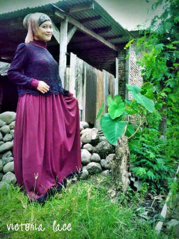 Victoria L Mh H Baju Muslim Gamis Modern