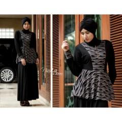vicenza hitam, koleksi pakaian muslimah gamis trend terbaru