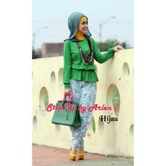 vidia 2 hijau step up arlene, busana muslimah modern, gamis terkini 2013