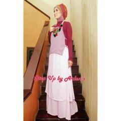 yaswa pink gamis gaul murah, gamis remaja, busana muslim wanita