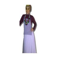 yaswa ungu, busana muslimah terkini, gaun muslimah pesta