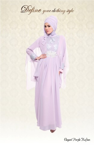 DEFINE-Elegant Purple Kaftan