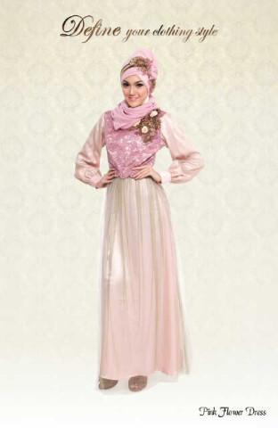 DEFINE-Pink Flower Dress