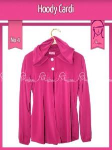 Hoody Cardi Pink