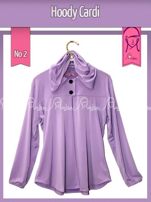 Hoody Cardi B Violet Baju Muslim Gamis Modern